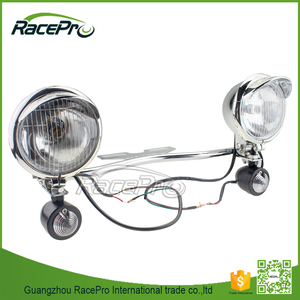 Passing Light Bar Turn Signals LED Motorcycle Spotlights for Harley Cruiser Custom