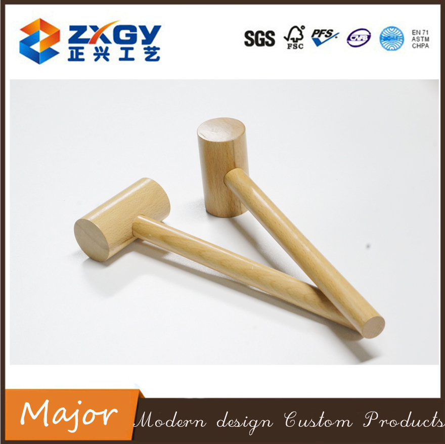 Wooden Mallet and Hammer Punching Tool Wooden Hammer Made of Beech Wood