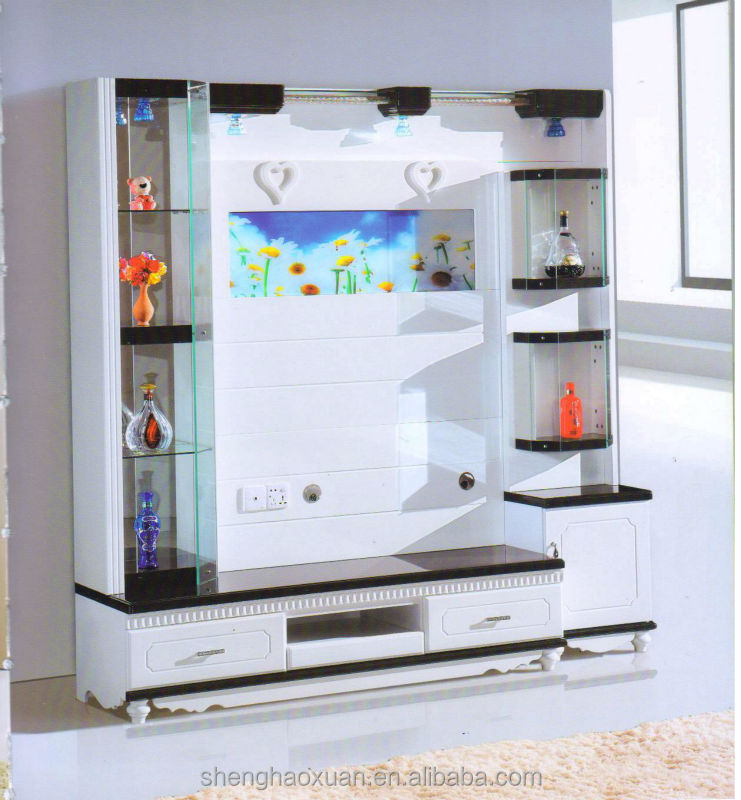 Hot selling home furniture tv hall cabinet living room furniture wall units designs 9930# tv cabinets wall units