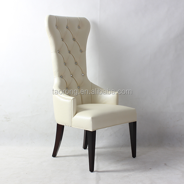 High Back White Pu Leather Wood Wedding Chairs For Sale Buy Wood Wedding Ch