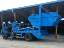 Dongfeng 4*2 8 CBM hydraulic swing arm garbage truck