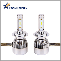 Latest best selling 12v 8000lm h7 car led head light replace hid xenon kit 12v 35w 6000k h7 car lights bulb with canbus