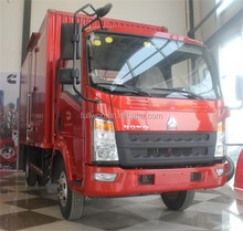 China howo 4X2 2 ton small delivery van prices low