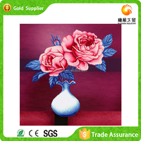 Wholesale Decorative 3D Wall Decor Painted Pictures Of Flowers