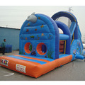 Promotional customized obstacle course inflatable ocean world shape