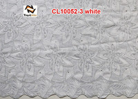 2014 african swiss voile lace white fabric of CL10052 white
