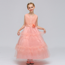 Smocked children clothing wholesale fancy frocks for baby girls wedding party boutique dresses LP-66