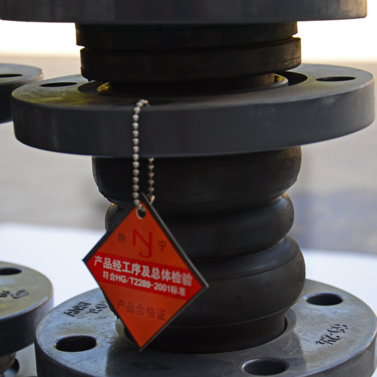 Twin sphere bellows type rubber expansion joint for valves