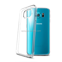 crystal clear dot view tpu mobile phone case for sumsung galaxy s6 edge