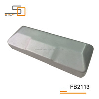 High-quality PVC leather silvery special shape spectacle frame case