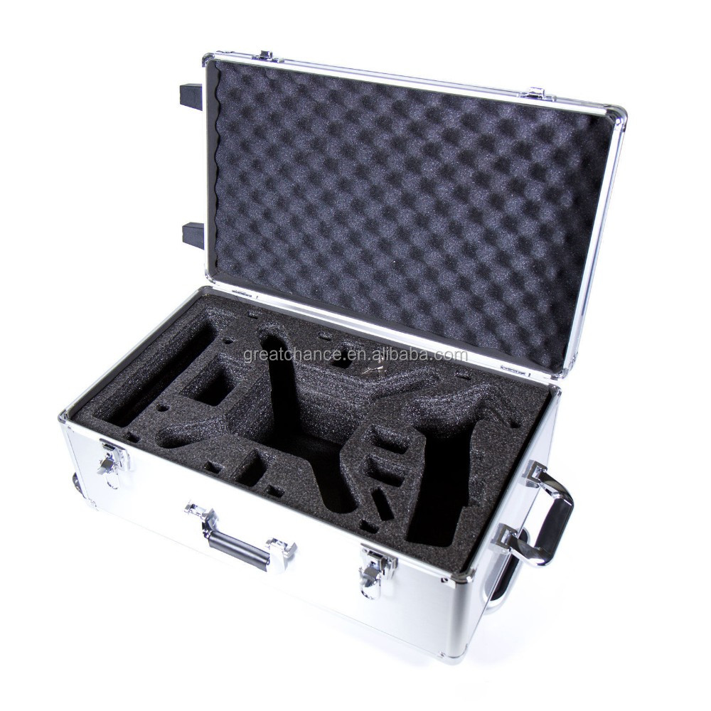 DJI Phantom 1 & 2 Vision+ Quadcopter Alloy Hard Rolling Carry Case by Atomik RC