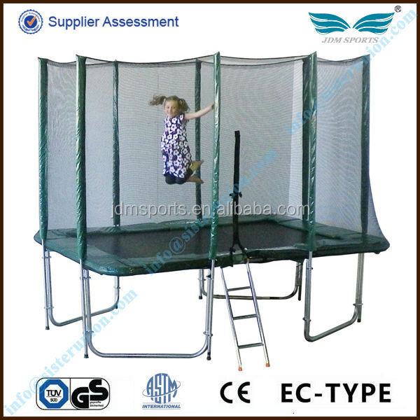 Top quality useful outdoor exercise 6ft,8ft,10ft,12ft,13ft,14ft,15ft,16ft rectangular trampoline for sale cheap