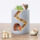 Roogo hot sales fair lovely hedgehog warm house home &amp garden pot
