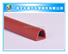 D shape silicon foam adhesive rubber seal strip