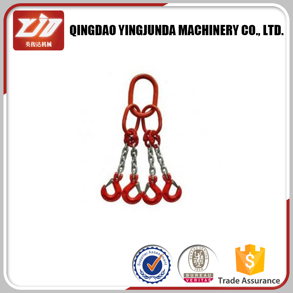 G80 chain sling heavy duty lifting chain sling factory price