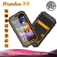 Runbo X6 Smart Phone Rugged IP67 MTK6589 Quad Core Android 4.2 OS cell phone 4.5 Inch Screen 13 MP Camera