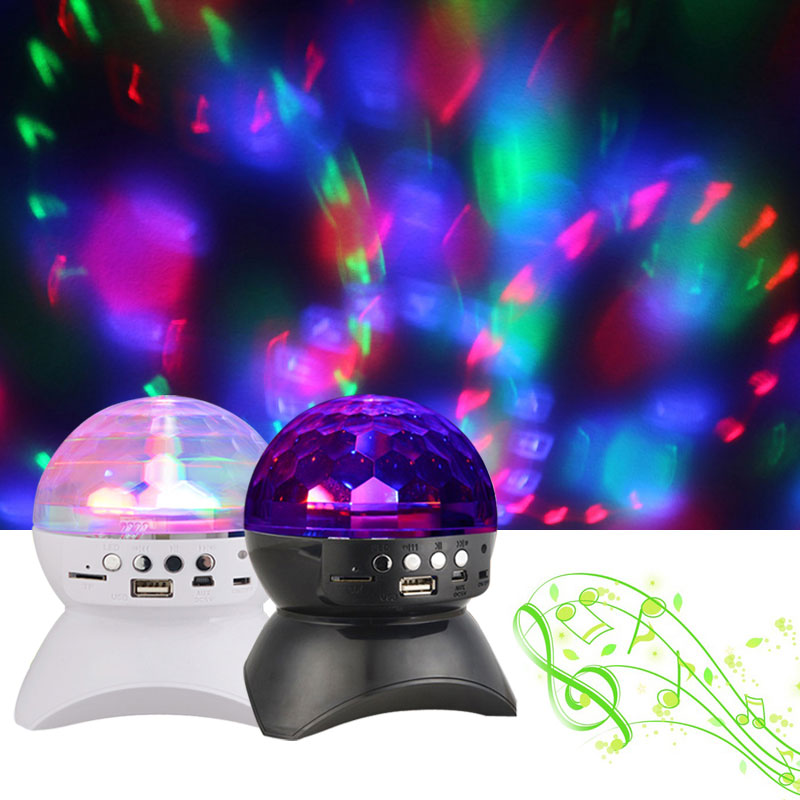 2016 Hot Sale LED Stage Light 3 LEDS Lamp Portable Professional DJ Speakers Colorful Disco Bluetooth Speaker With MP3 FM Radio