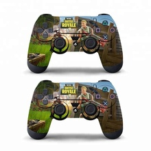 Data Frog 2 Pcs for Fortnite Sticker For Sony <strong>PlayStation</strong> 4 PS4 Game Controller Skin Stickers For PS4 Slim
