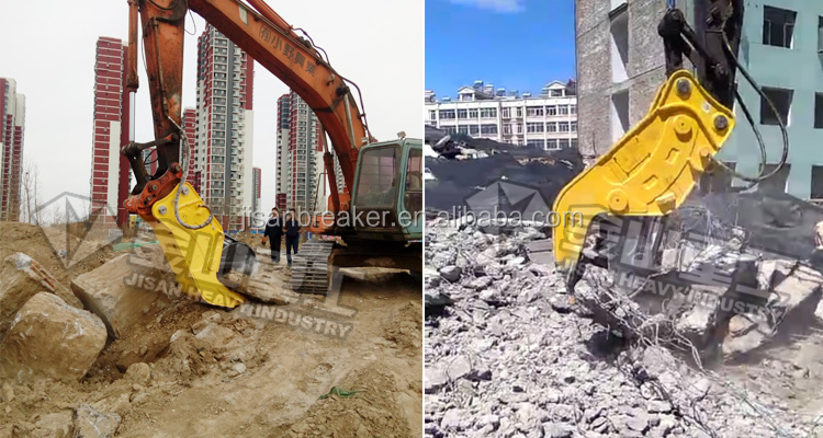 20ton Excavator reverse-cylinder hydraulic concrete pulverizer attachment for sale