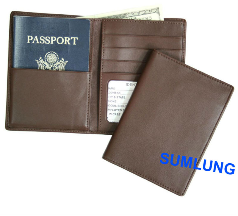 RFID Blocking Wallet for Credit Card and Passport Nappa Leather offer OEM logo
