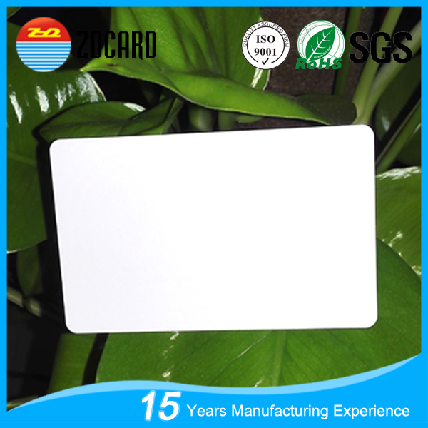 Free design pvc white blank id gift cards from China