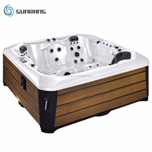 Freestanding Whirlpool Bathtub outdoor spa bath two lounge hot tub