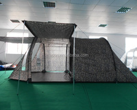 Popular style large size waterproof double layers family tunnel camping tent for 6man