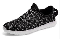 Hottest design flyknit upper flashing men running shoes