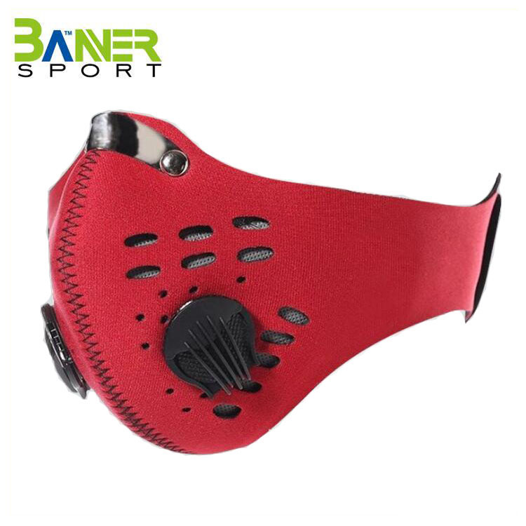 Outdoor Sports Neoprene Motorcycle Bicycle Cycling Half Face Mask Wind Proof Face Mask with Filter
