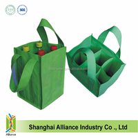 Wholesale non-woven 6 Bottle Wine Bag with Divider