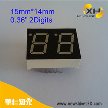 Multi-color Cathode Anode 0.36 Inch 2 digit 7 segment led display