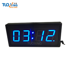 4 digit 2.3 inch small led digital clock