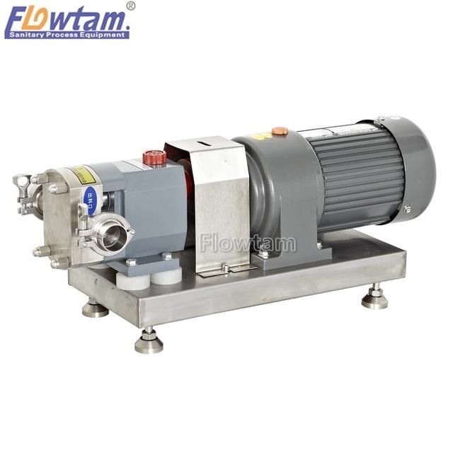 Food grade stainless steel constant speed rotor lobe pump
