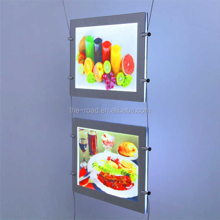 Advertising Product make up picture frame led lighting box bright display panel
