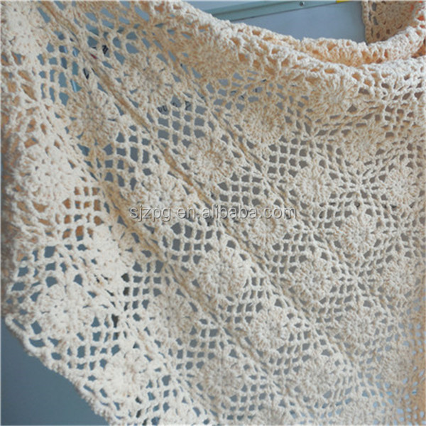 factory supply crochet cotton blanket for baby and adult