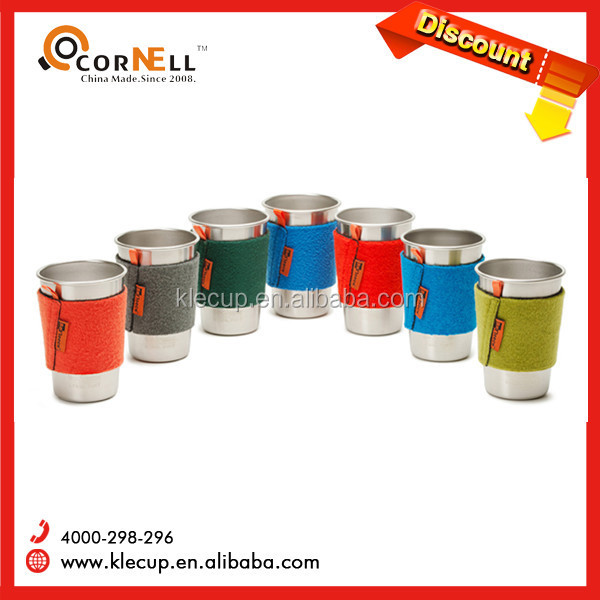 New Novelty Colorful Barware steel cup pint beer cup wine glass shot glass with Leather