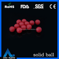 shangyu aoke red colorful ball cheap plastic
