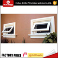Waterproof good quality pvc awning window double glazed windows