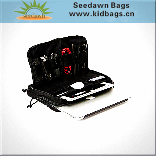 Hand Carry High Quality Laptop Pad Computer Briefcase Pouch Bag with Crossbody Shoulder Sling for Tablet Computer