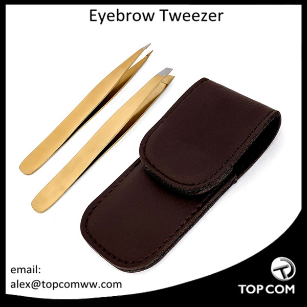 Tweezers Set Professional Stainless Steel Slant Flat Pointed Tip Precision Tweezers