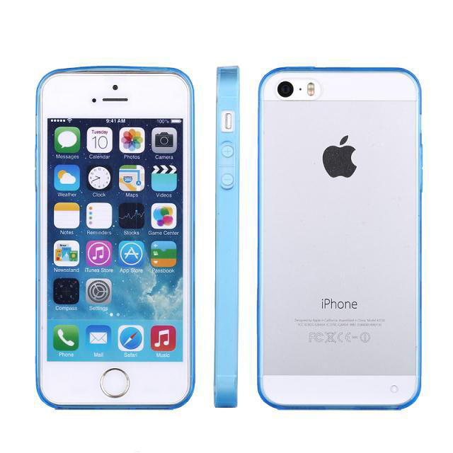 Colorful Ultra Thin Transparent Clear Back Hard Case Cover Skin For iPhone 5 5G 5S