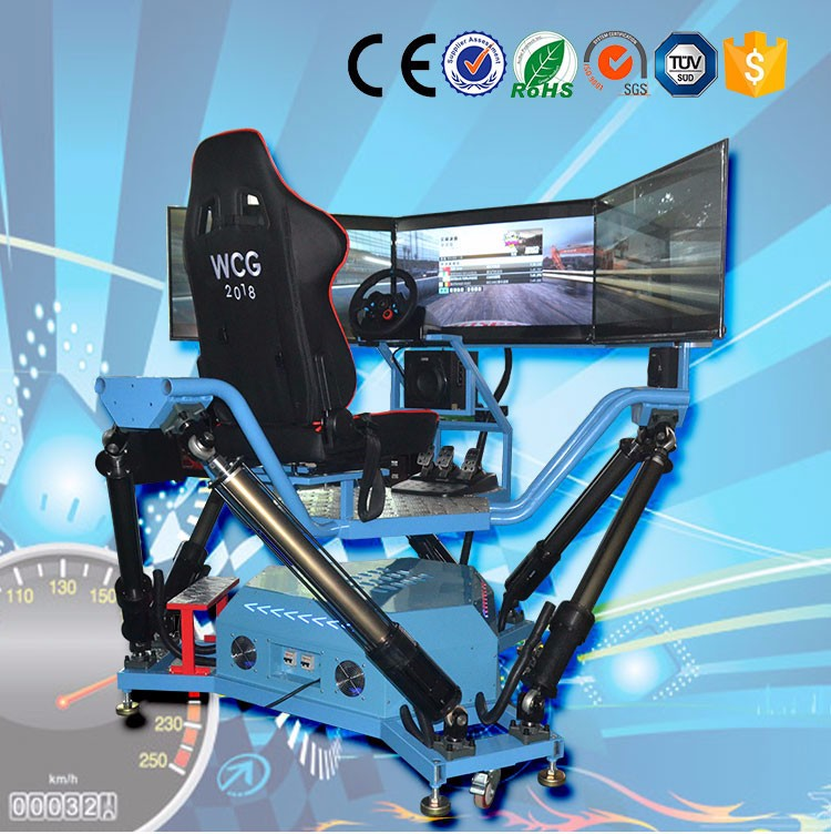 Fiber glass with metal Interactive driving game VR Racing Simulator