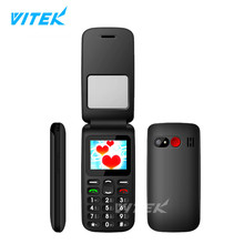 VITEK New Products 1.77 inch Big Font Small Basic Phone, Wholesale Cheap 2G Senior Phone, Old Man Mobile Phone With Loud Sound