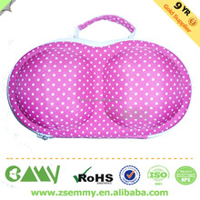 wholesale new fashion high quality portable eva bra bag case in storage bags cosmetic modleed bra travel eva case