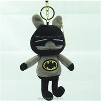 High Quality promotional gift soft plush animal keychain plush wolf key chain