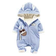 2017 baby clothes long sleeve baby rompers winter coverall jumpsuit