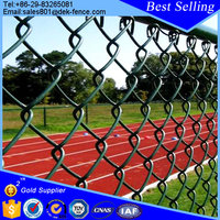 Vinyl coated sport court chain link wire mesh fence roll