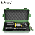 Aluminium Alloy XML T6 LED Zoomable Flashlight With 18650 Battery