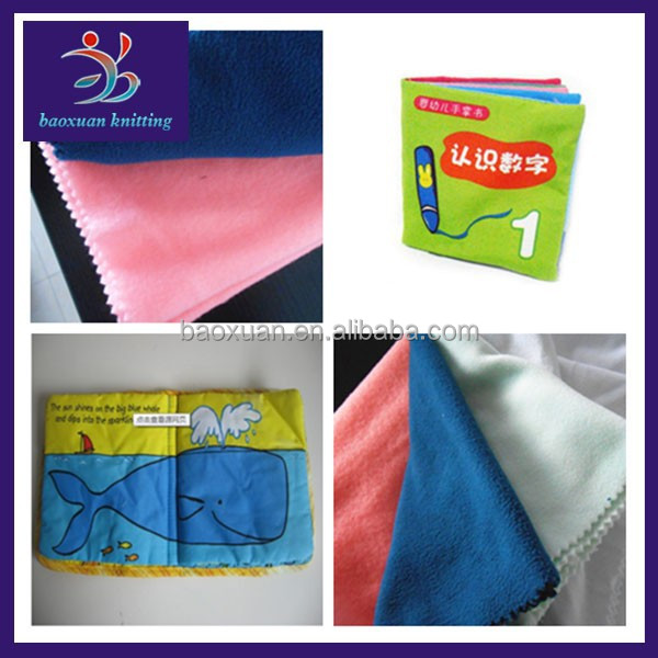 wholesale 100 polyester super soft fleece fabric for baby fabric books