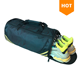 custom logo man polyester waterproof sport duffel bags durable travel gym bag set with shoe compartment